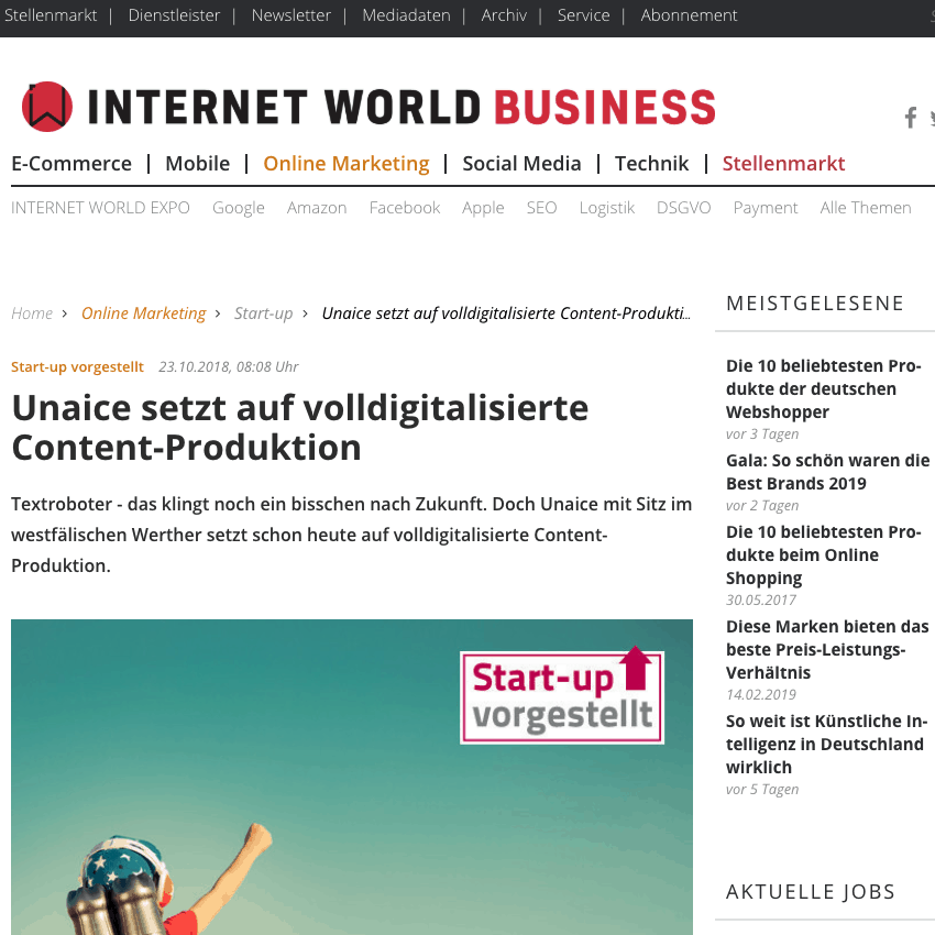 uNaice setzt auf volldigitalisierte Content-Produktion