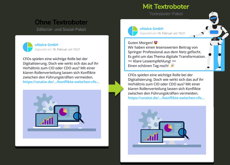 News Stream mit Textroboter